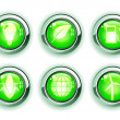 Green ecologe icons — Stock Photo