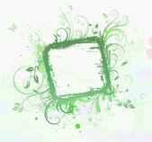 Floral decoratief frame — Stockfoto