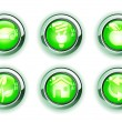 Stock Photo: Green ecologe icons