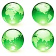 Glossy Earth Map Globes — Stock Photo #4114948