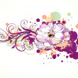 Floral Decorative background — Stock Photo