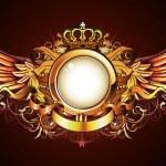 Heraldic golden frame — Stock Photo