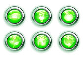 Yeşil ecologe simgeleri — Stok fotoğraf