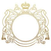 Luxury heraldic frame — Stock Photo
