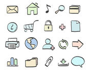 Icons set — Stock Photo