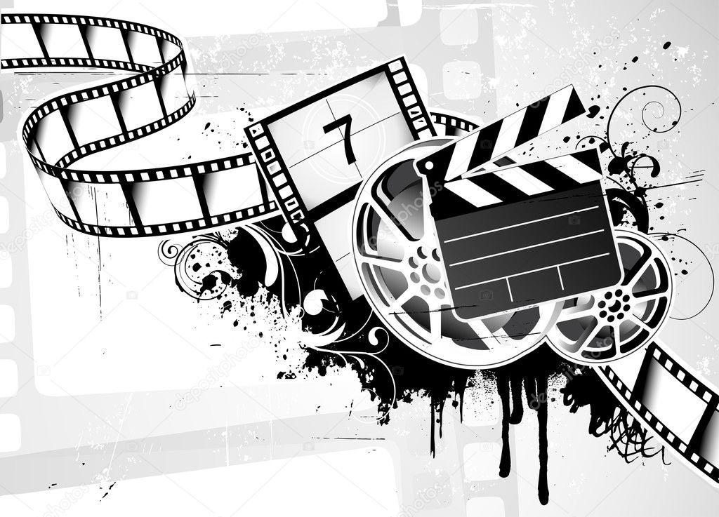 Movie film Background - Stock Image