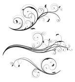 çiçek öğeleri — Stok Vektör