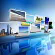 Media stream of high technology - Stockfoto