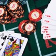 Place a poker player - Foto de Stock