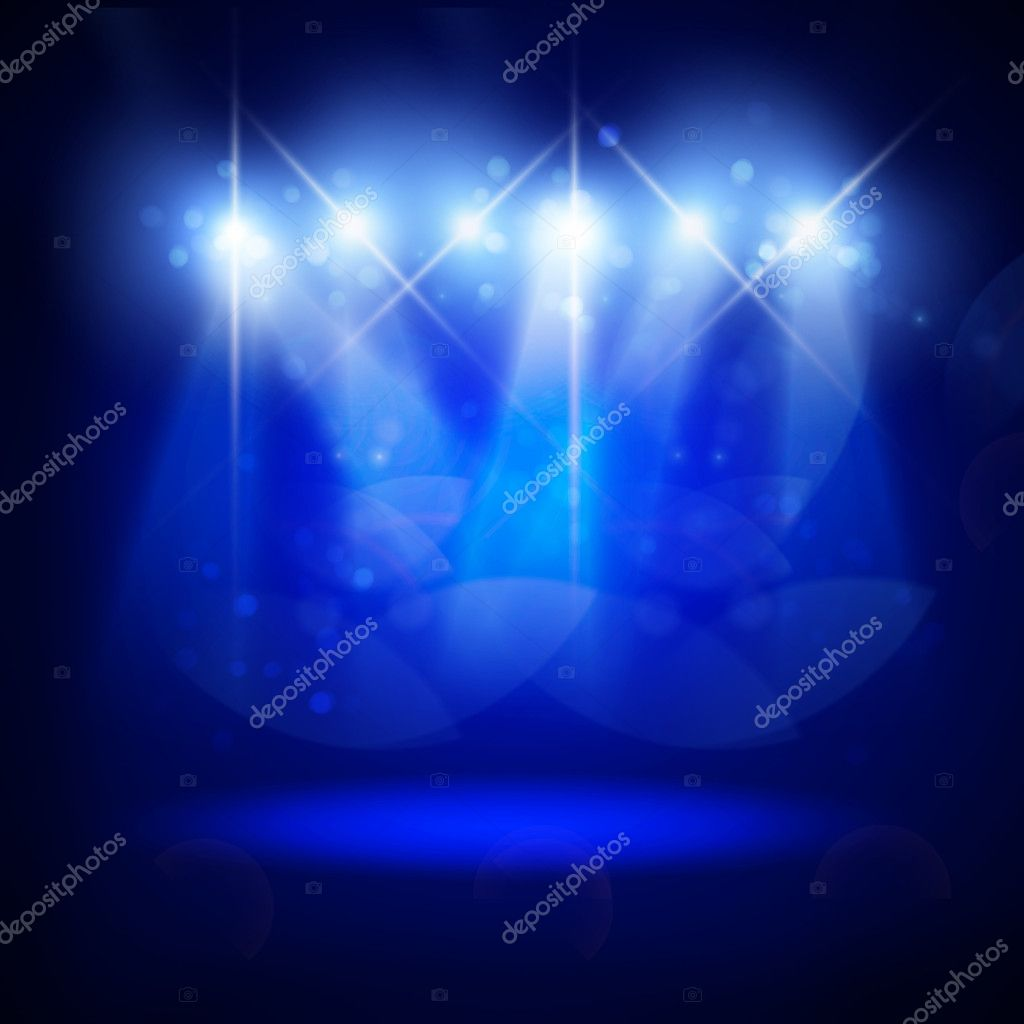 Abstract image of concert lighting against a dark background. Illustration. — Stock Photo #5225522
