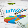 Financial charts and graphs — Stock Photo #5243569