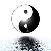 Yin ve yang arka plan sembolü. — Stok fotoğraf