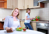 Mom and young daughter — Stock Photo