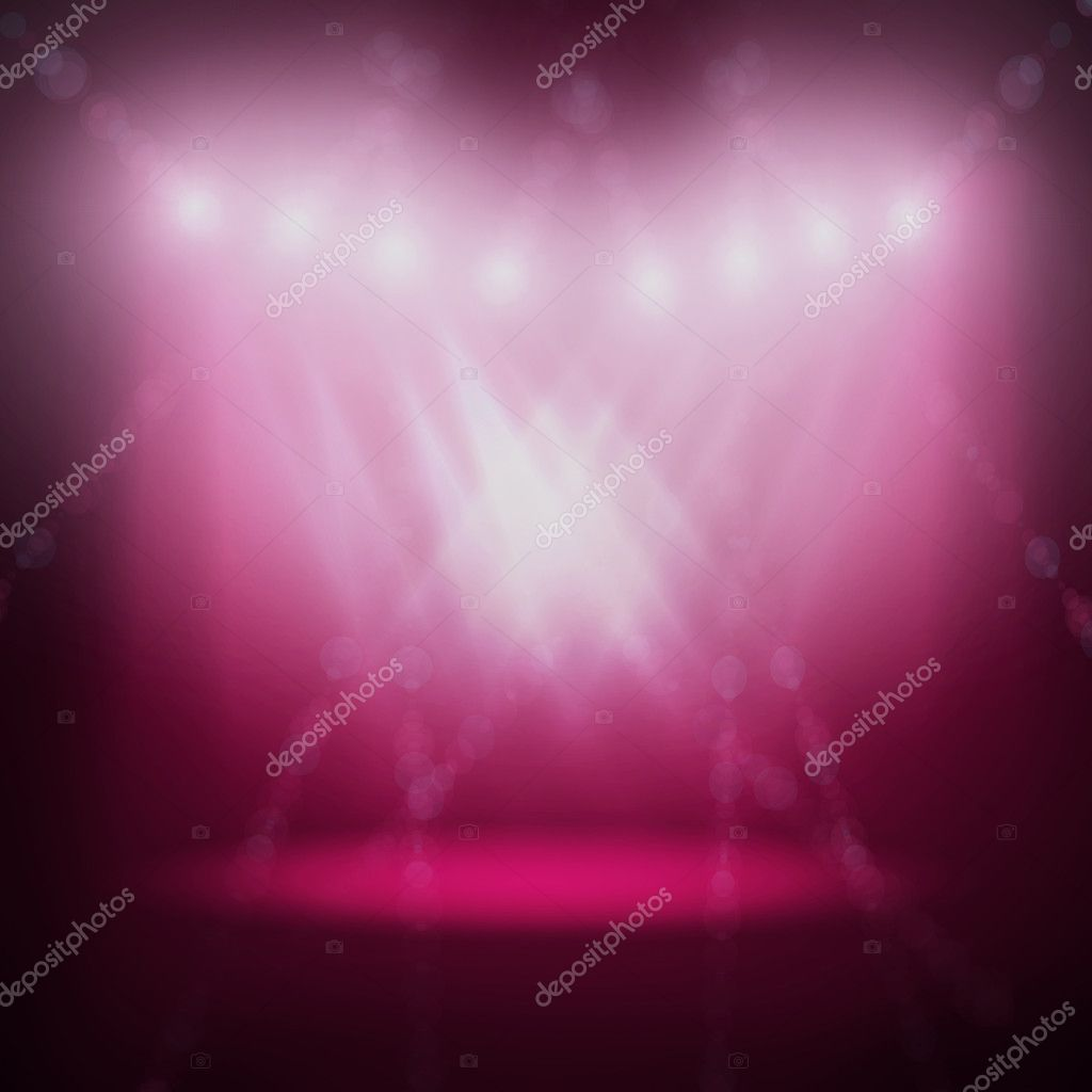 Abstract image of concert lighting against a dark background. Illustration.  Stock Photo #5288431