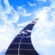 Road from solar panels — Stock Photo #5301244
