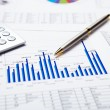 Financial charts and graphs — Stock Photo #5309924