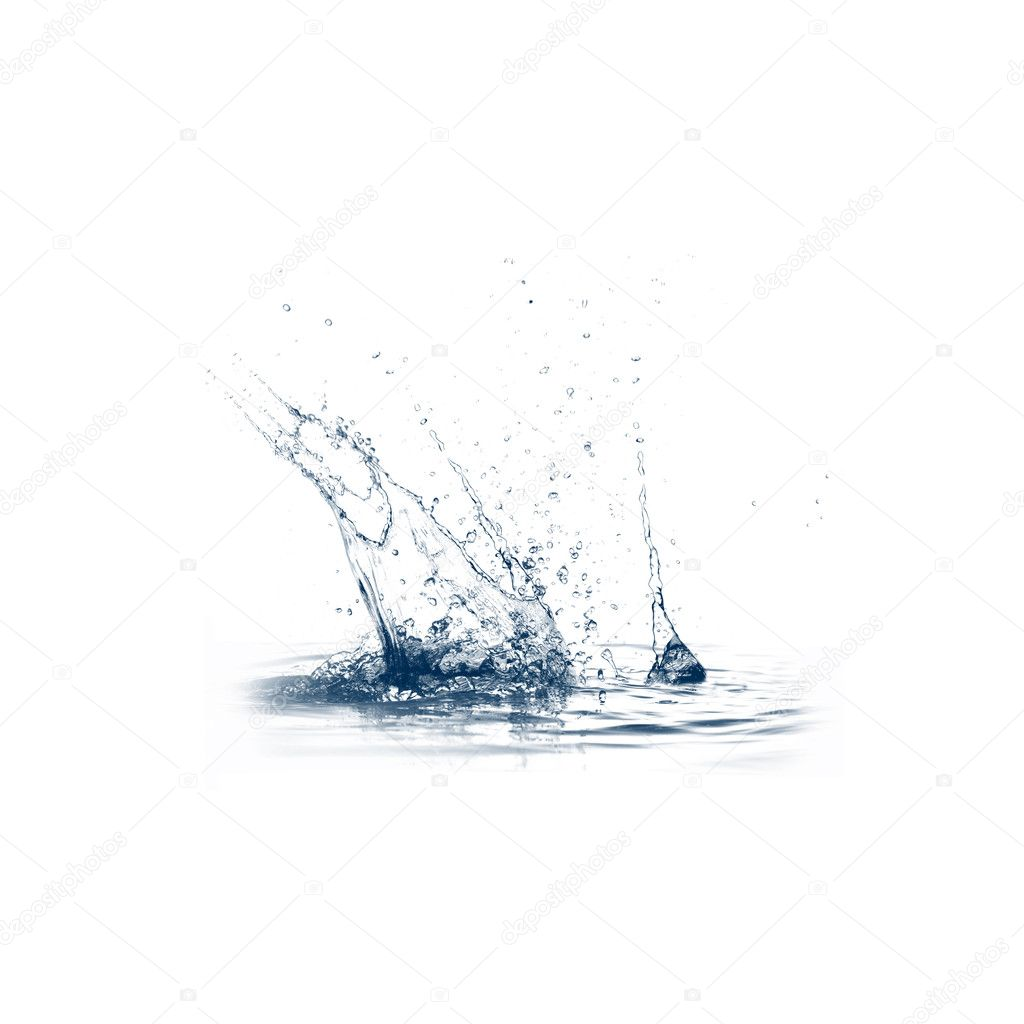 Abstract splashes of water. Symbol of environmental protection. — Stock Photo #5309885