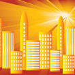 Solar City. — Stock Vector