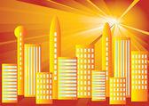 Solar City. — Stock Vector