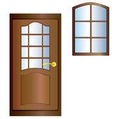 Door and window. — Stock Vector