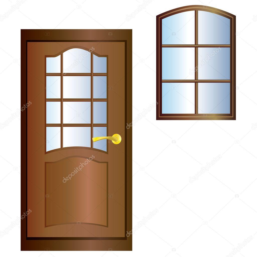 Door and window stock vector vikhr15 3924152 for Door and window