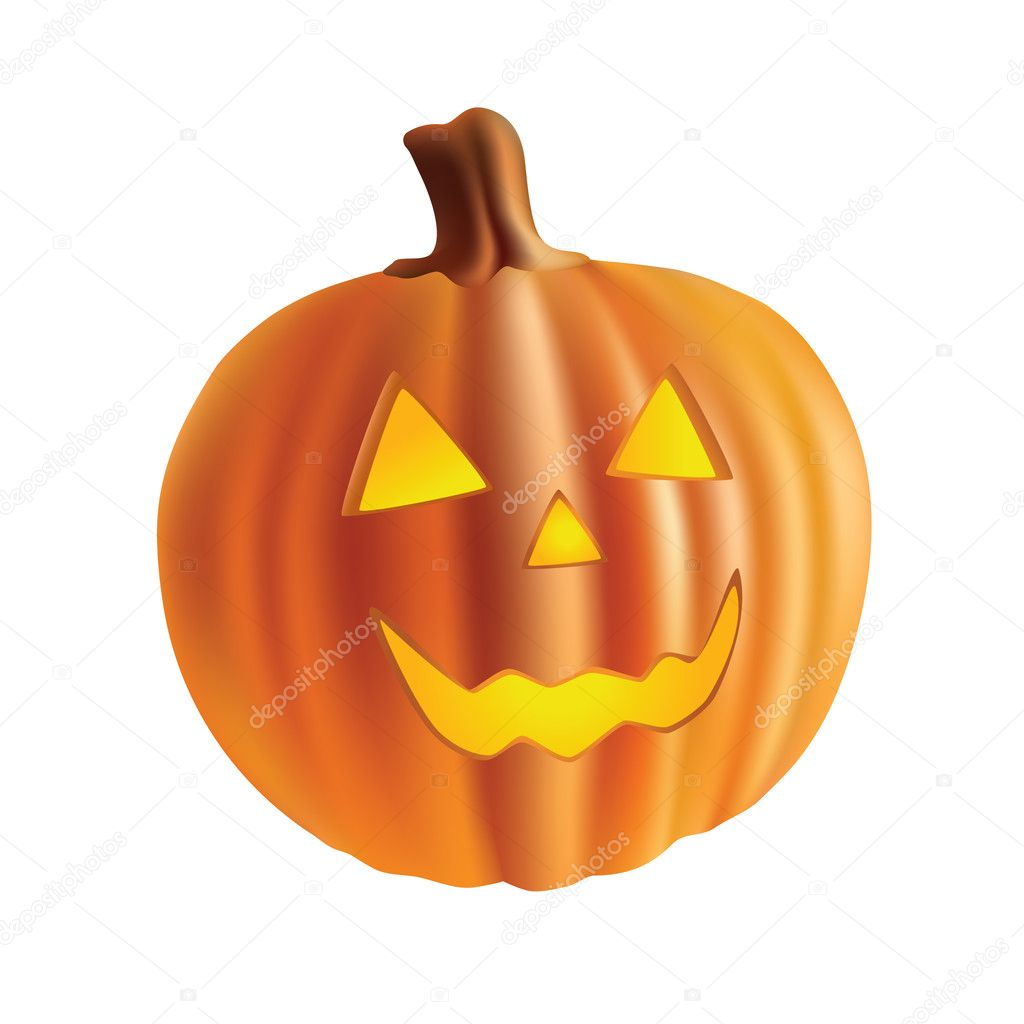 Halloween pumpkin isolated on white background.  Stock Vector #4014716