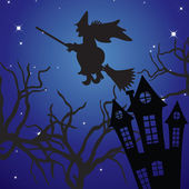 Halloween-landschaft. — Stockvektor
