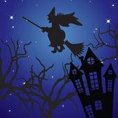 Paisaje de halloween. — Vector de stock