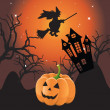 Royalty-Free Stock Vector Image: Halloween landscape.