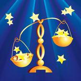 Zodiac signs - Libra — Stock Vector