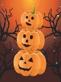 три хэллоуин тыква — Cтоковый вектор