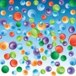 Stock Vector: Abstract background with bubbles.