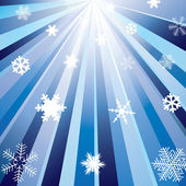 Rays and snowflakes. — Stock Vector