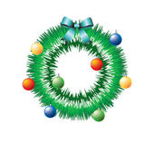 Christmas wreath. — Stock Vector
