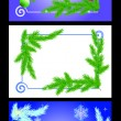 Vector de stock : Christmas frame.