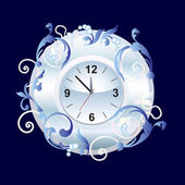 Watch with ornament. — Stock Vector