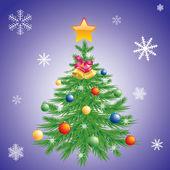 Christmas tree. — Stock Vector