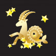 Stock Vector: Zodiac sign - Capricorn.