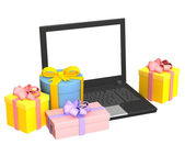 Virtual gifts — Stock Photo