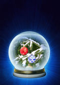 Christmas ornaments in magic crystal — Stock Photo
