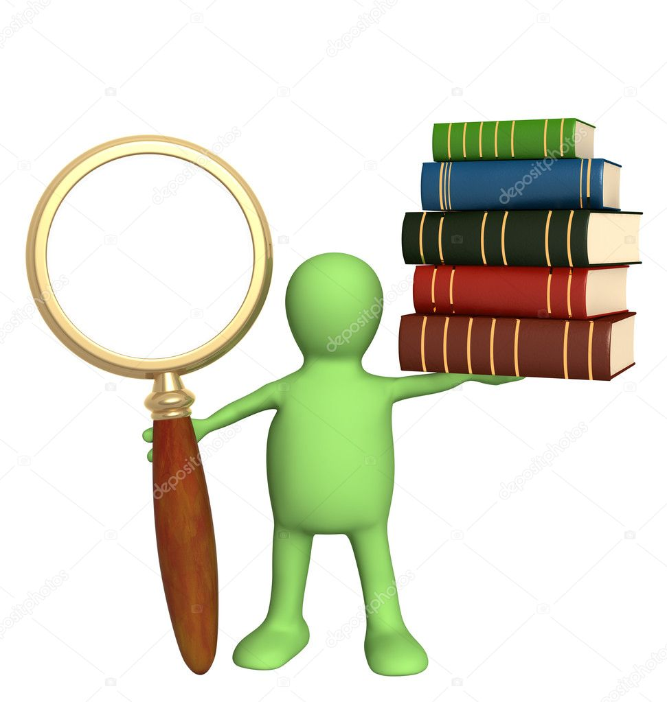 Information search in the books — Stock Photo #4020920