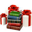Books and gifts — Stock Photo