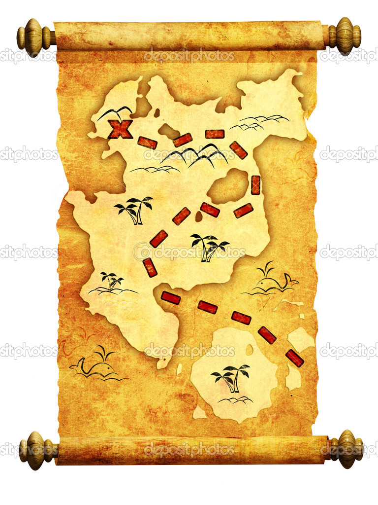 Pirate map. A way to treasure — Stock Photo #4178270