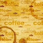 Papier Textur mit Tropfen Kaffee — Stockfoto