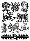 Amerikan kızılderili geleneksel desenler vektör — Stok Vektör