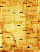 Paper texture with drops of coffee — Stock Photo