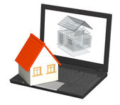 Virtual project of home — Stock Photo
