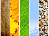 Naturen banners — Stockfoto