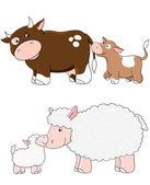 Vector farm animals — Stock Vector