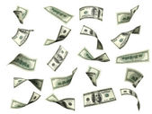 Collection of dollar banknotes — Stock Photo